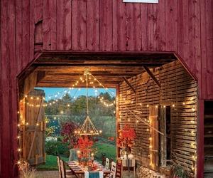 barn, home, and light image