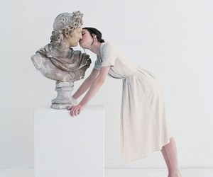 art, kiss, and white image