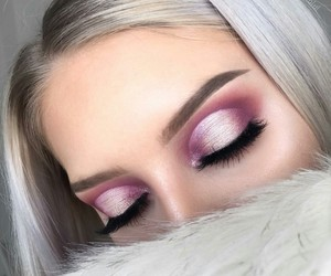makeup, pink, and tumblr image