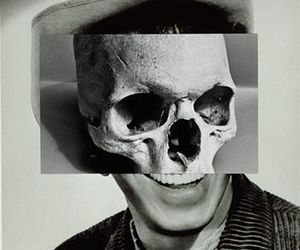 Collage, art, and skull image