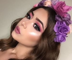 asian, makeup, and flowercrown image
