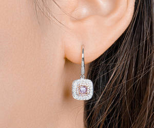 etsy, pink earrings, and pink earring image