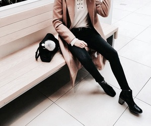 beige, black, and classy image
