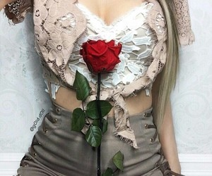fall, fashion, and flowers image