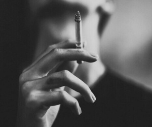 smoke, grunge, and cigarette image
