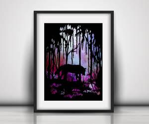 etsy, spirit animal wolf, and alternative art gift image