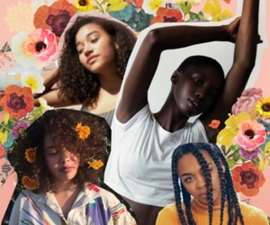 Afro, art, and flowers image