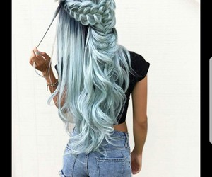 hair, mermaid hair, and long image