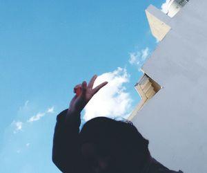 cloud, lightblue, and peace image