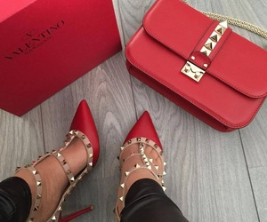 red, bag, and shoes image