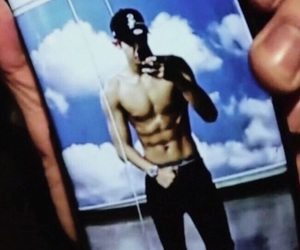 exo, chanyeol, and abs image