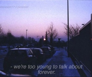 quotes, forever, and sad image