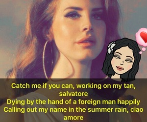 catch, lana, and Lyrics image
