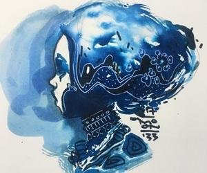 acrylic, blue, and illustration image
