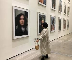 art, girl, and white image