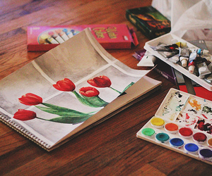 flowers, art, and paint image