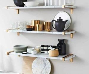 kitchen, marble, and minimalism image