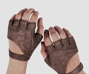 gloves, aesthetic, and brown image