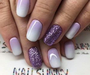 nails, glitter, and purple image