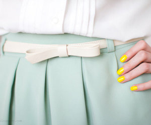 fashion, nails, and skirt image