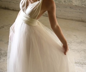 wedding dress, beautiful, and bridal image