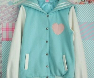 fashion, letterman jacket, and kawaii image