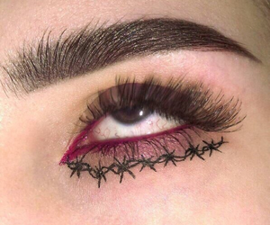 eye, makeup, and eyebrows image