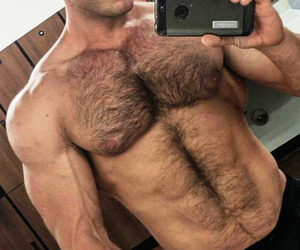 muscle, boy, and hairy image