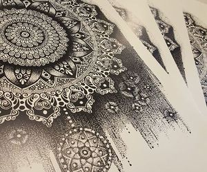 art, drawing, and mandala art image