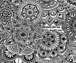 mandala, art, and zentangle image