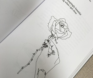 aesthetic, book, and drawing image