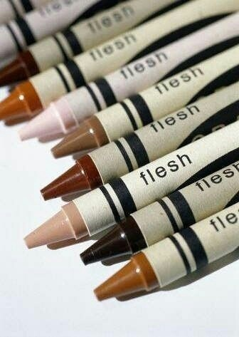 crayon, flesh, and skin image