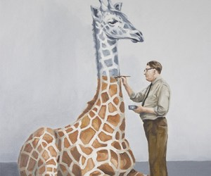art, giraffe, and unfinished image