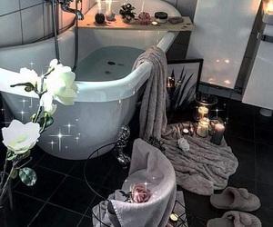 bath, decor, and flowers image