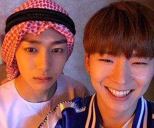 kihyun, hyungwon, and kpop image