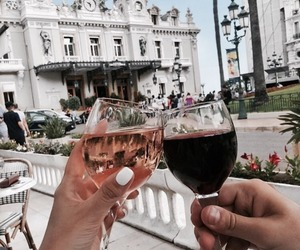 couple, wine, and travel image