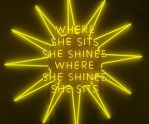 neon, yellow, and quotes image