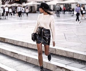 black, blouse, and street image