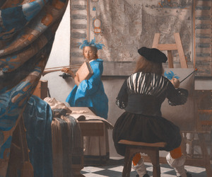 painting, johannes vermeer, and vermeer image