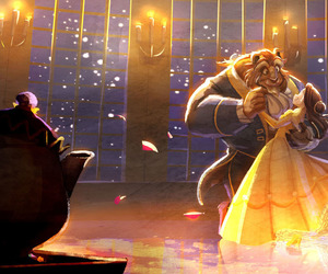 beauty and the beast, disney, and the beauty and the beast image
