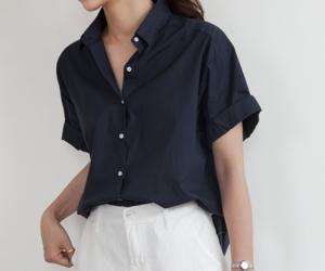 button down shirt, fashion, and minimal image