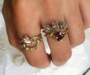 beauty, gold, and rings image