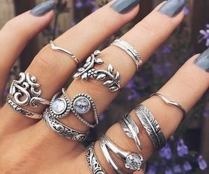 beauty, hipster, and jewlery image