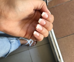 nails, french manicure, and uñas image