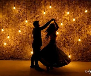 couple, dance, and lights image