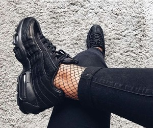air max, black, and nike image