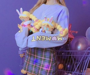 asian, girl, and plushies image