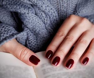 autumn, nails, and burgundy image