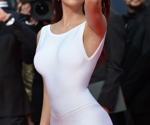 casual, white dress, and body fit dress image