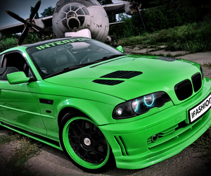 beautiful, green, and bmw image